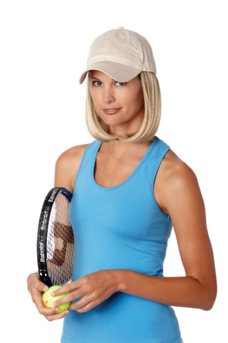 Beige hats with classic hair wigs available at The Wig Lady in Berks County PA